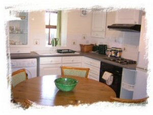 One of our well equipped self catering kitchens - come to Melling Dub Farm for  the perfect base to your self catering holiday